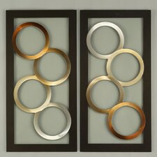 2 Piece Ringlets Graphic Wall Décor Set