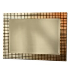 Bronze Grid Wall Mirror