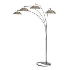 Saucer 4 Light Arc Floor Lamp