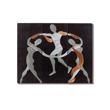 Gilmore 3 Piece Scarf Dance Graphic Art Plaque Set