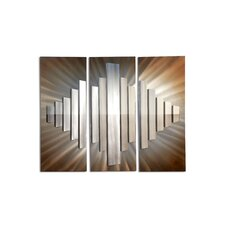 Jon Gilmore Sunburst City Wall Art (Set of 3)