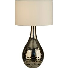 "Perf 28.5"" H Table Lamp with Oval Shade"