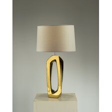 "Matrimony Standing 28"" H Table Lamp with Oval Shade"