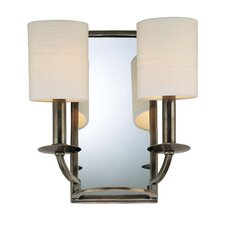 <strong>Hudson Valley Lighting</strong> Winthrop Mirrored 2 Light Wall Sconce