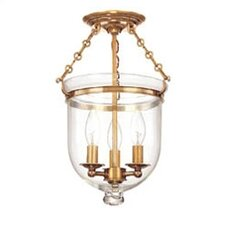 <strong>Hudson Valley Lighting</strong> Williamsburg Hampton 3 Light Semi Flush Mount