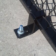 Single Yard Kennel Concrete Securing Bracker