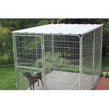Basic Corrugated Yard Kennel Metal Top