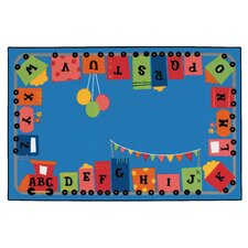 Alphabet Fun Train Kids Rug