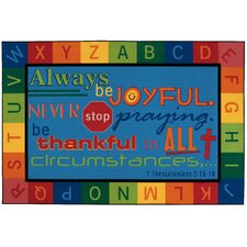 <strong>Kids Value Rugs</strong> Always be Joyful Circletime Kids Rug