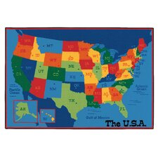 <strong>Kids Value Rugs</strong> USA Map Kids Rug