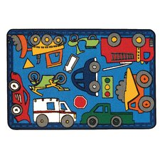 <strong>Kids Value Rugs</strong> Wheels on the Go Kids Rug