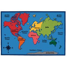 World Map Kids Rug
