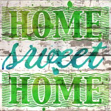 Home Sweet Home Reclaimed Wood - White Barn Siding Art