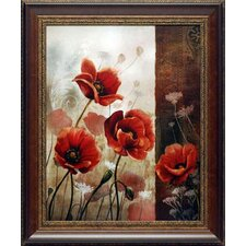 <strong>North American Art</strong> Wild Poppies II Framed Art