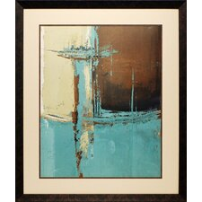 <strong>North American Art</strong> Oxido on Teal I Framed Art