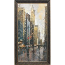 <strong>North American Art</strong> Rainy Day in Manhattan Framed Art