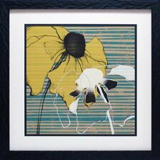 'Layered Poppies I' by Jennifer Goldberger Framed Graphic Art
