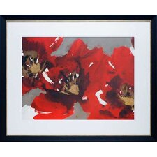 'Forest Poppies I' by Natasha Barnes Framed Painting Print
