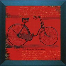'Bicycle I' by Andrew Cotton Framed Graphic Art