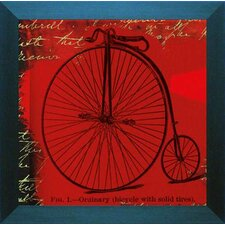'Bicycle II' by Andrew Cotton Framed Graphic Art