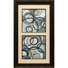 'Tuesday Vertical I and II' by Jeni Lee Framed Graphic Art