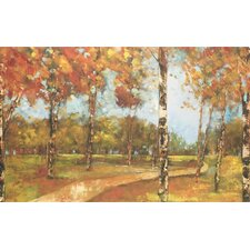 <strong>North American Art</strong> Autumn Path Canvas Wall Art
