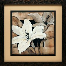 'Dramatic Lily Grid I' by Tim O'Toole Framed Graphic Art