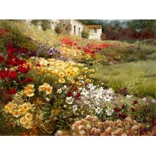Hillside Garden by Ian Cook Painting Print on Canvas