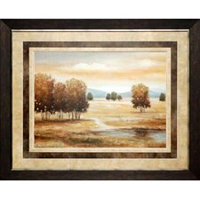 <strong>North American Art</strong> Linen Landscape II Wall Art