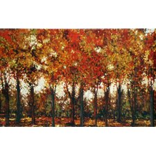'Bordeaux Trees' by Carmen Dolce Painting Print on Canvas