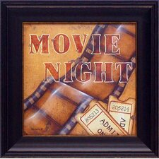 Movie Night by Kim Lewis Framed Graphic Art