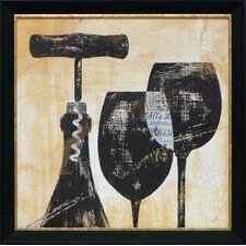 'Wine Selection II' by Daphne Brissonnet Framed Graphic Art