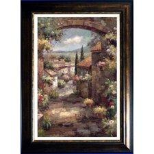 'Tuscan Vista' by Osborne Mayer Framed Painting Print