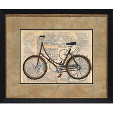 'Tour by Bicycle II' by Chaiklia Zarris Framed Graphic Art