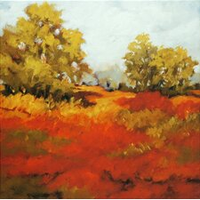 <strong>North American Art</strong> Scarlet Fields I Canvas Wall Art