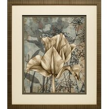 'Tulip and Wildflowers IV' by Jennifer Goldberger Framed Graphic Art