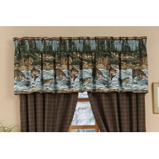 River Fishing Cotton Curtain Valance
