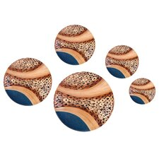 <strong>eUnique</strong> 5 Piece Sorek Wall Décor Button Set