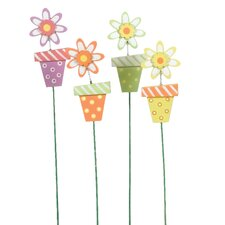 "3.5"" Fancy Flower Pot Pick (Set of 12)"