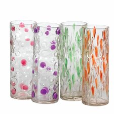 4 Piece Artisan Glass Vase