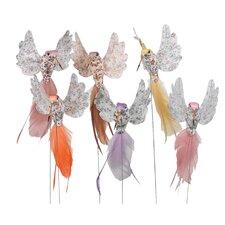 Feather Hummingbird Pick Figurine (Set of 12)