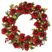 Poppy Pod Tendril Wreath