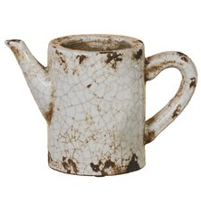 Crackle Watering Can Vase