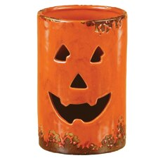 Ceramic Jack O Lantern Luminary