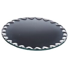 Round Scalloped Edge Mirror