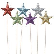 Glitter Star Pick (Set of 6)