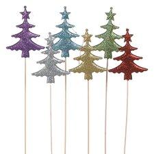Christmas Tree Glitter Pick (Set of 6)