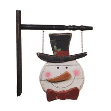 Hanging Snowman Sign Christmas Decoration