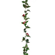 Holly Poinsettia Leaves Garland (Set of 2)