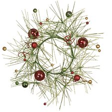 Glitter Pine Ball Candle Ring